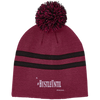 Hustle Until - Team 365 Striped Pom Beanie