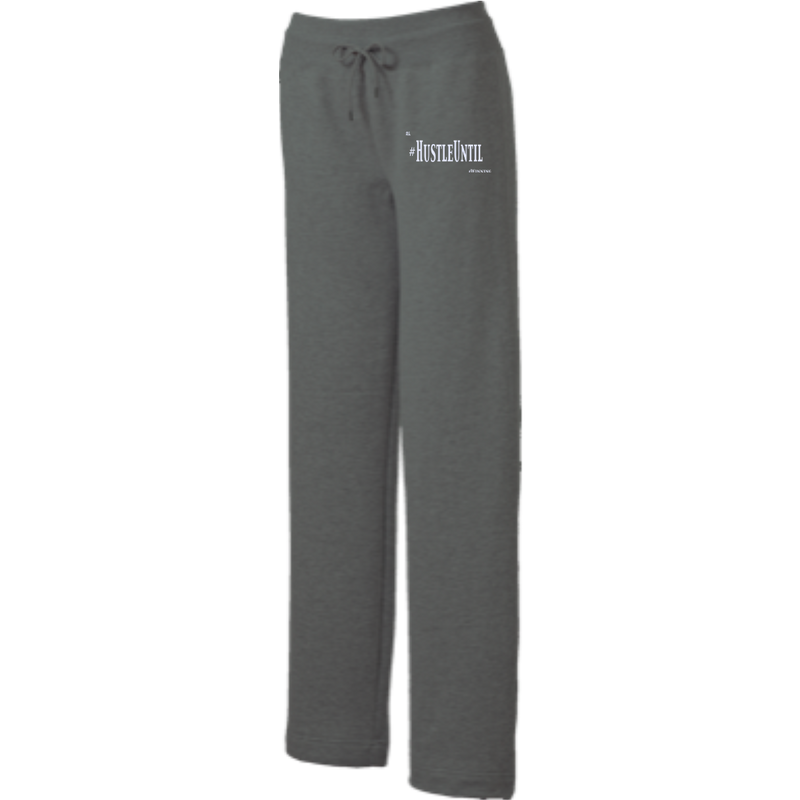 Hustle Until - Sport-Tek Ladies' Open Bottom Sweats