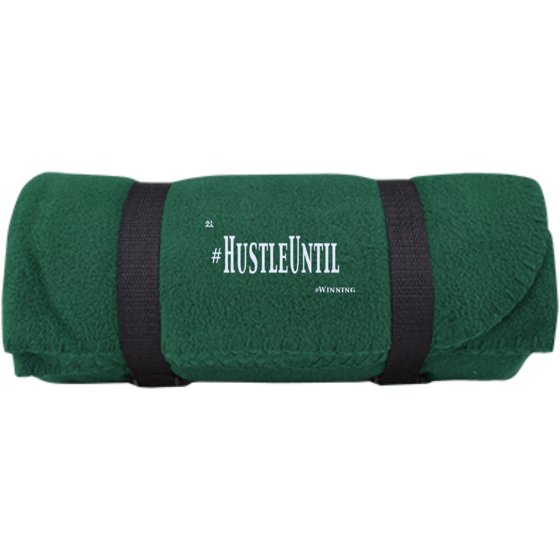 HUSTLE UNTIL - Port & Co. Fleece Blanket