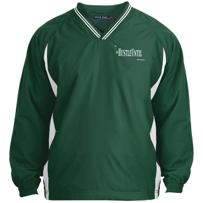 Hustle Until - Sport-Tek Tipped V-Neck Windshirt