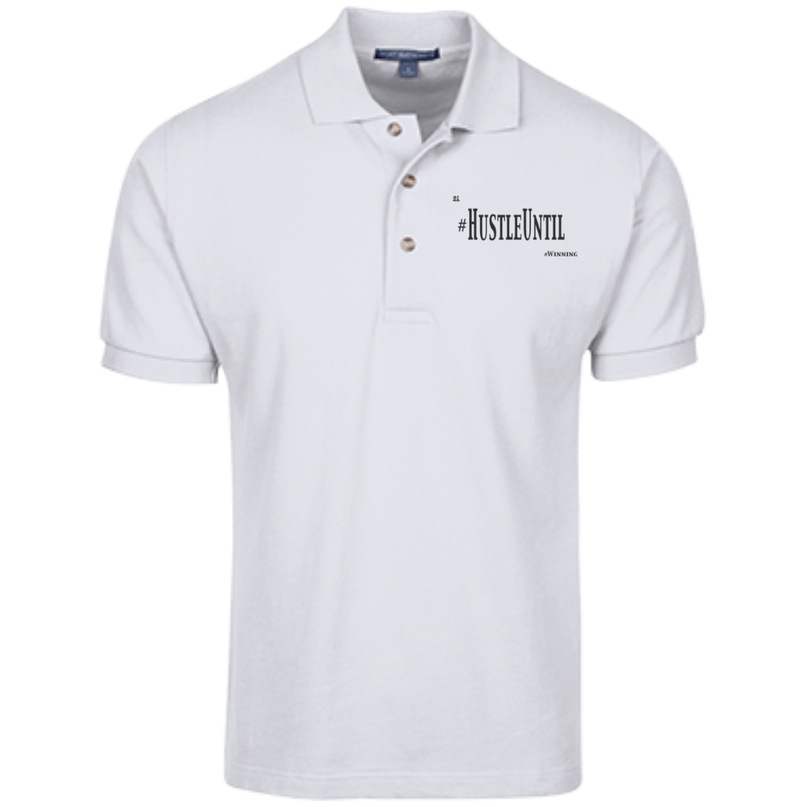 Hustle Until - Port Authority Cotton Pique Knit Polo