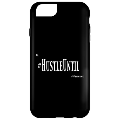 HUSTLE UNTIL - iPhone 6 Tough Case Wht