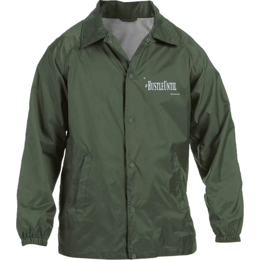 Hustle Until - Harriton Nylon Staff Jacket