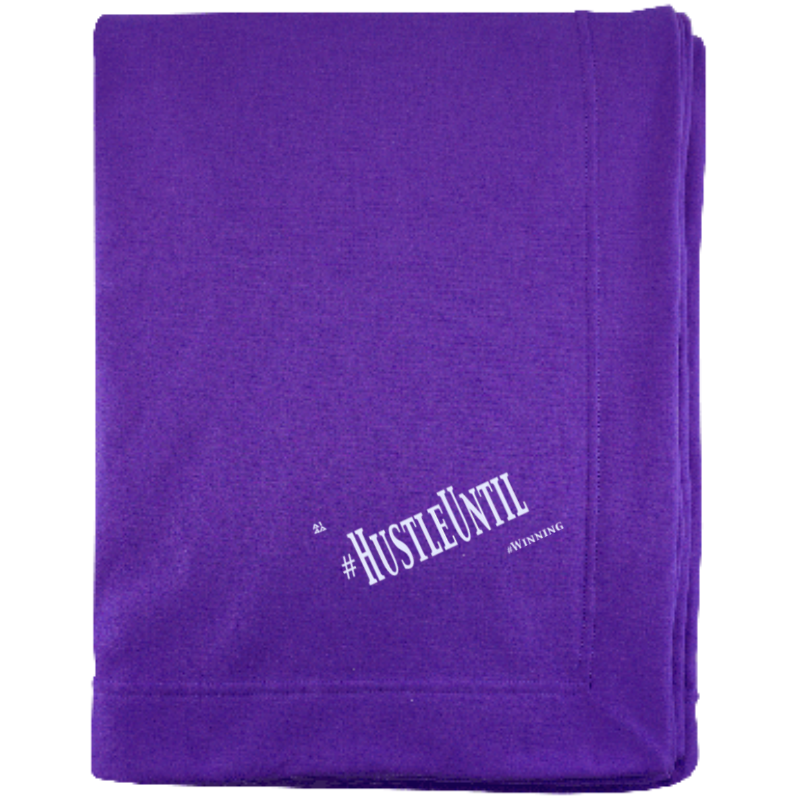 HUSTLE UNTIL - Gildan Sweatshirt Blanket
