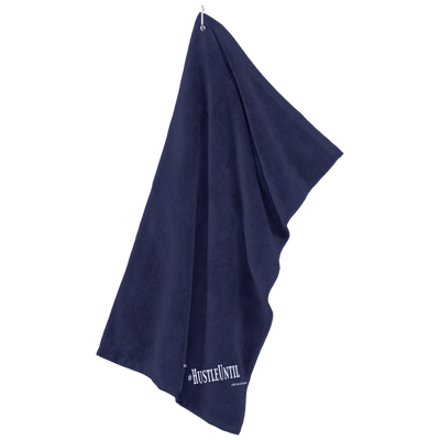 HUSTLE UNTIL - Port Authority Microfiber Golf Towel