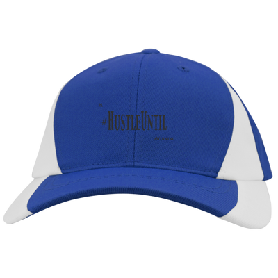 Hustle Until - Sport-Tek Youth Mid-Profile Colorblock Cap