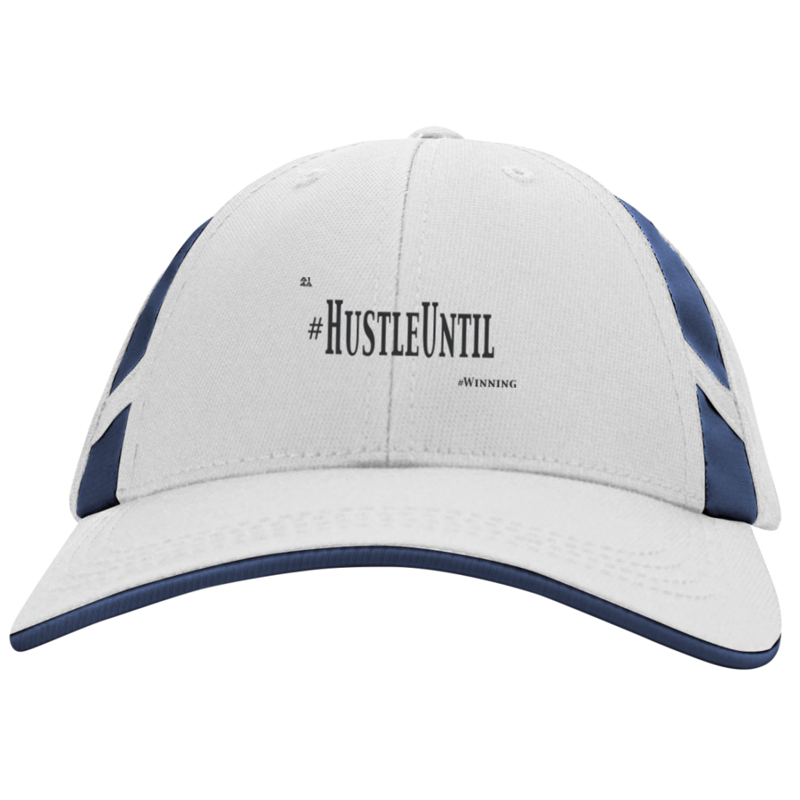 Hustle Until - Sport-Tek Dry Zone Mesh Inset Cap-Hats-And 1 For All