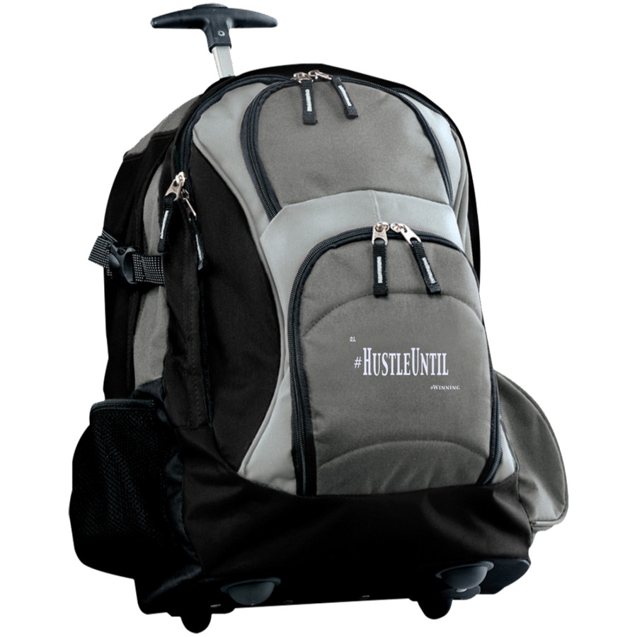 Hustle Until - Port Authority Wheeled Backpack Gry/Wht