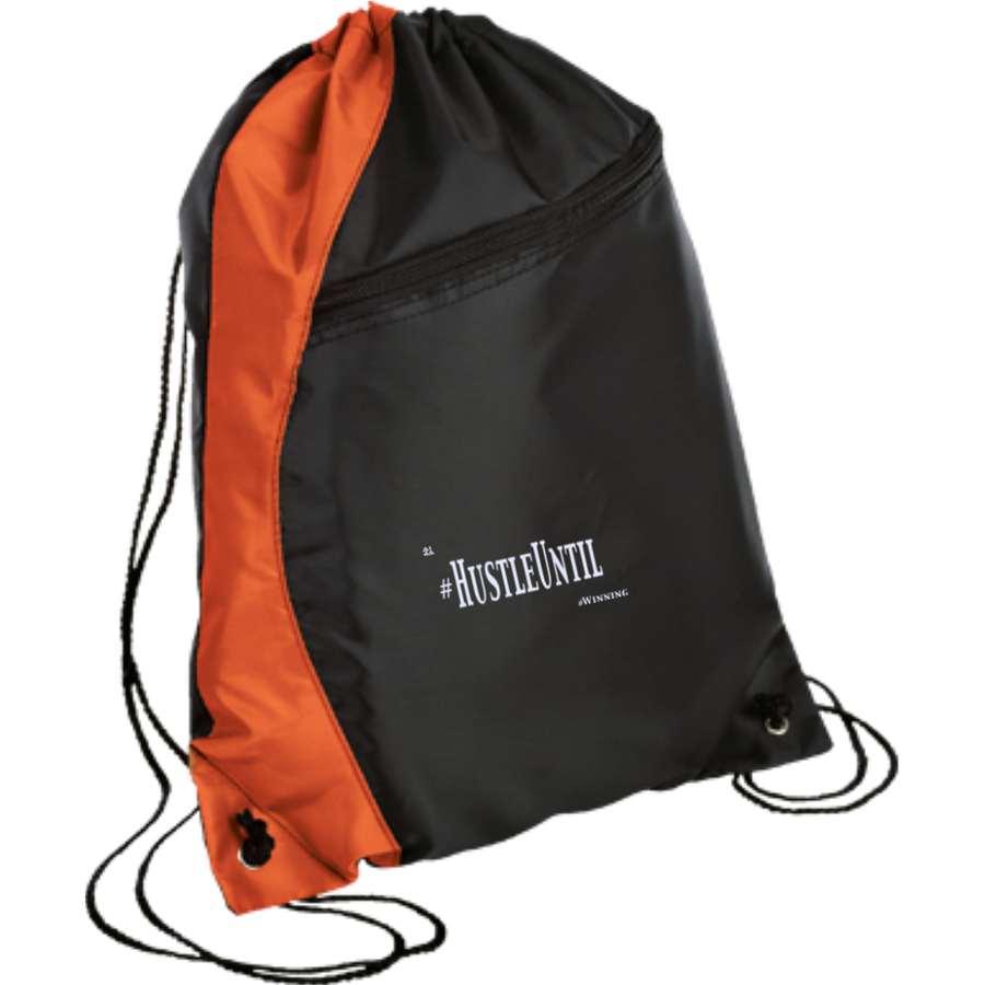 Hustle Until - Port & Company Colorblock Cinch Pack