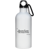 Hustle Until - 20 oz. Stainless Steel White Water Bottle