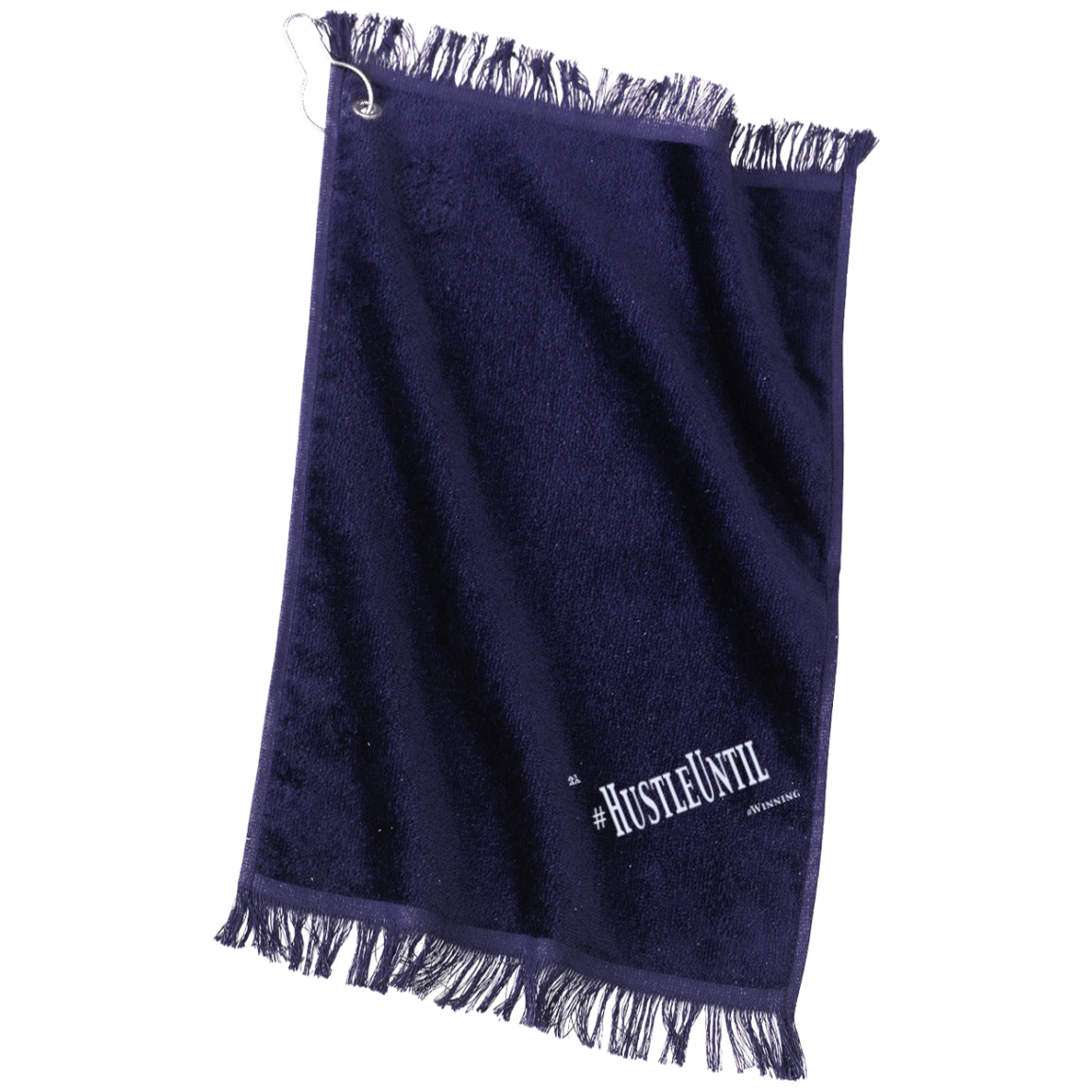 HUSTLE UNTIL - Port & Co. Grommeted Finger Tip Towel