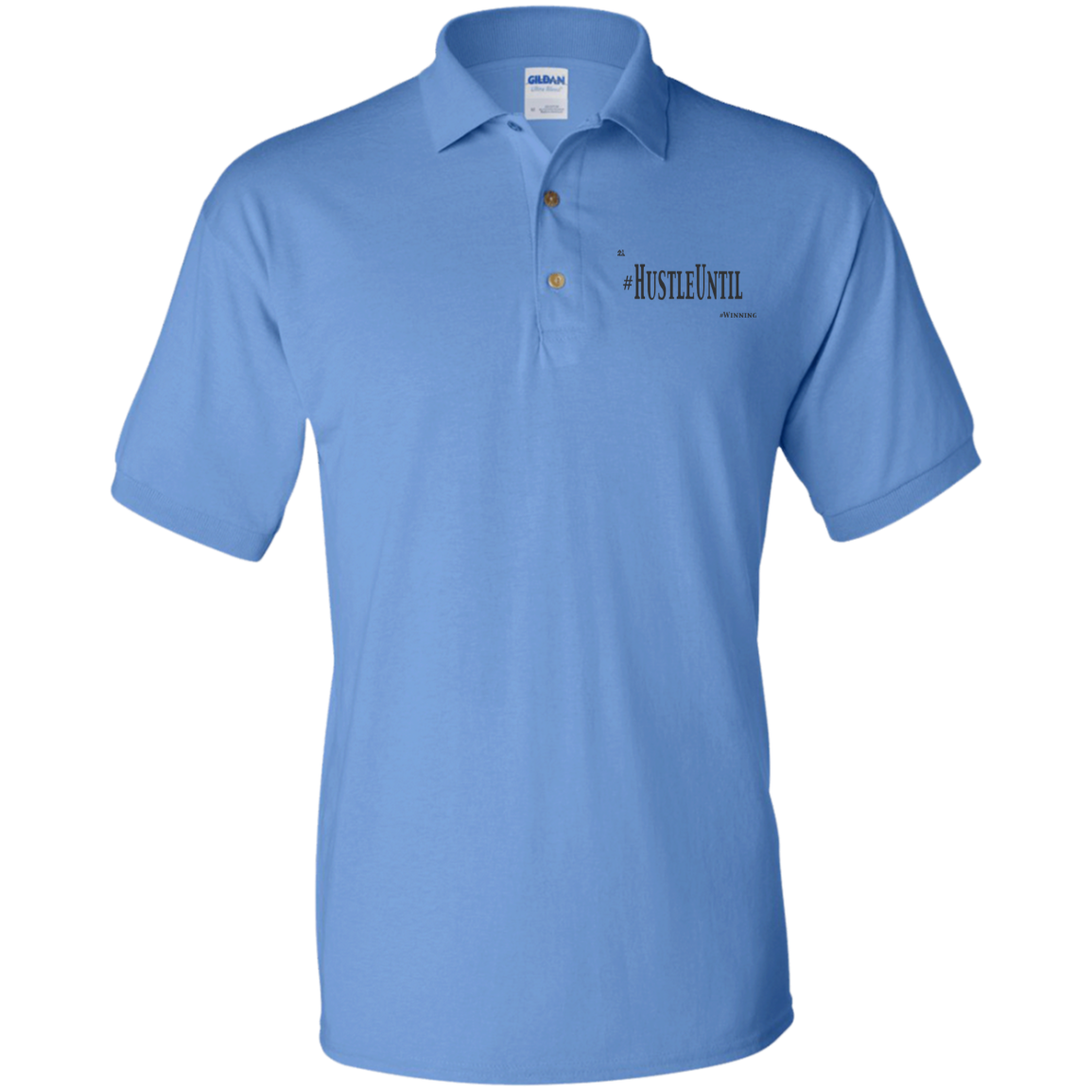 Hustle Until - Gildan Jersey Polo Shirt