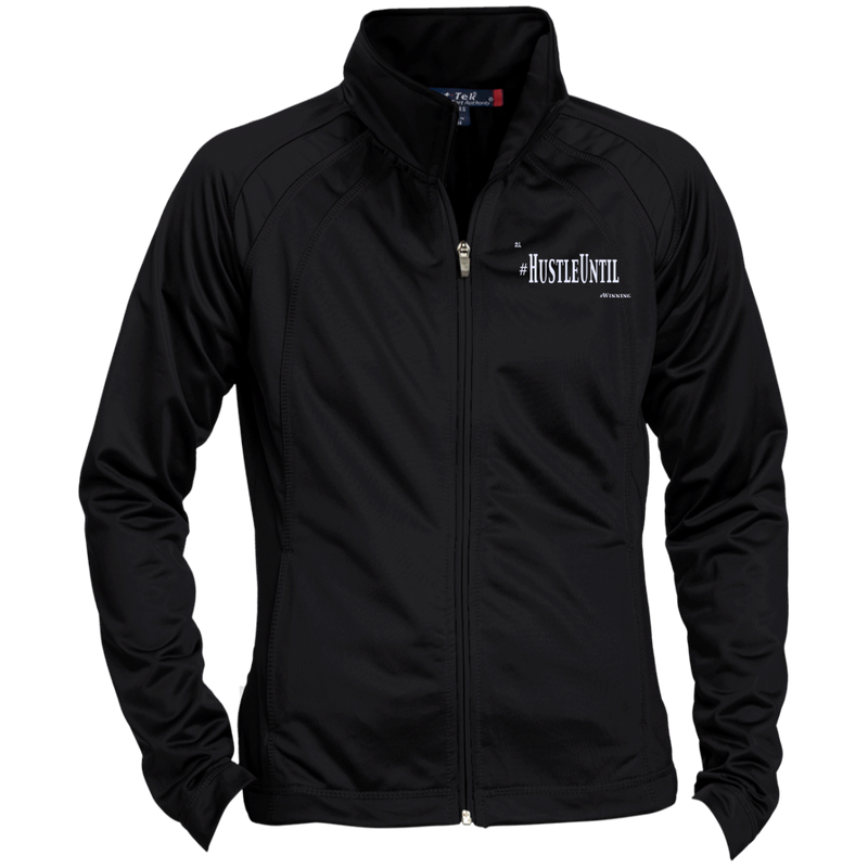 Hustle Until - Sport-Tek Ladies' Raglan Sleeve Warmup Jacket