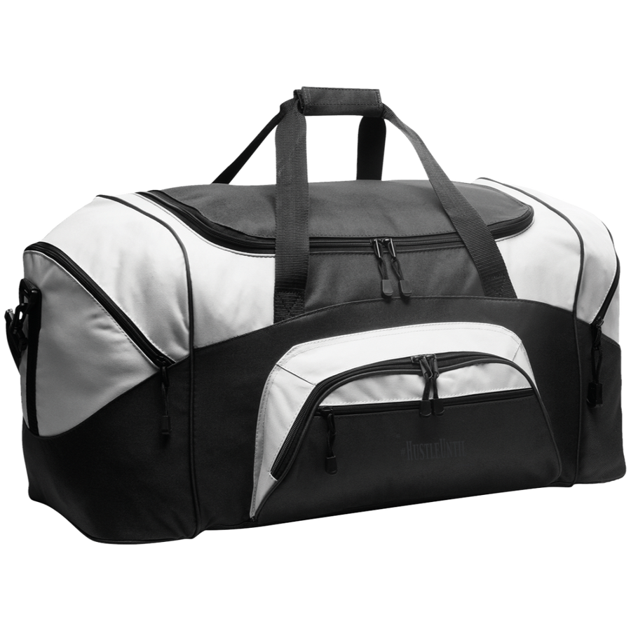 Hustle Until - Port & Co. Colorblock Sport Duffel