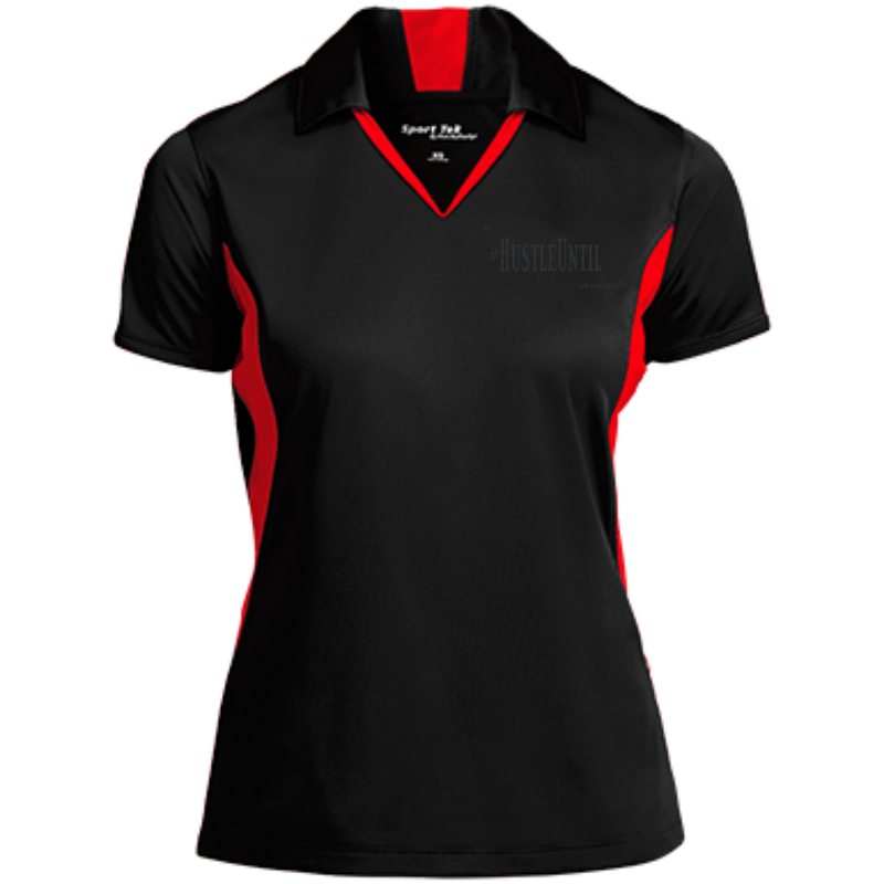 Hustle Until - Sport-Tek Ladies' Colorblock Performance Polo
