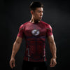 Marvel The Flash Men's Short Sleeve 3D Printed Quick Dry Compression T-Shirt, Red-T-Shirts-And 1 For All