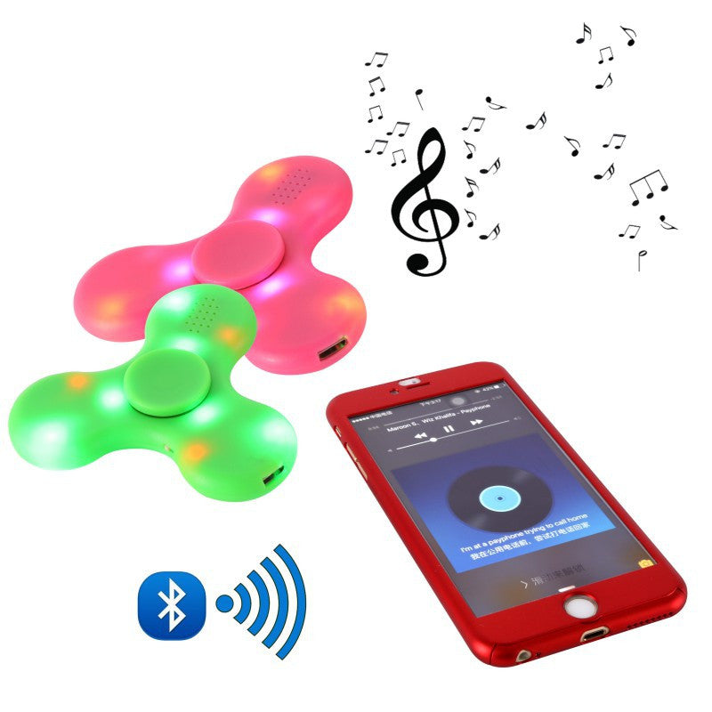Music Fidget Spinner (EDC) | LED Light Switch MINI Bluetooth Speaker For Autism Kids And Adult-Puzzles, Accessories-And 1 For All