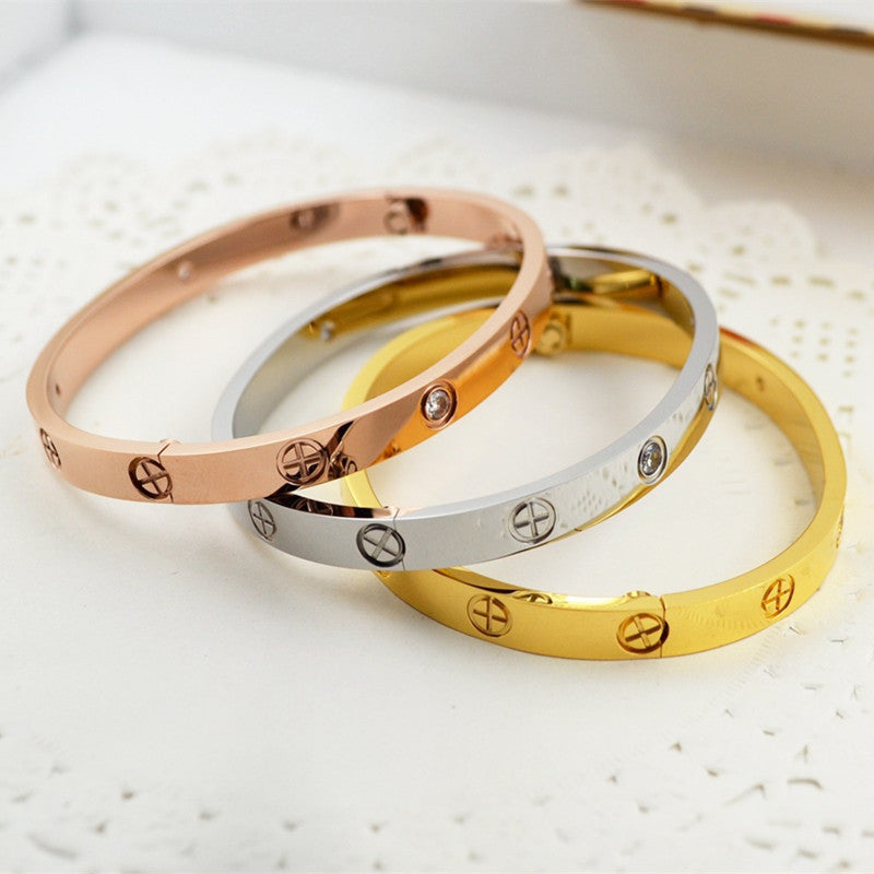 free bangle screw gold custom product stainless steel shipping wholesale bangles love drop bracelet design jewelry