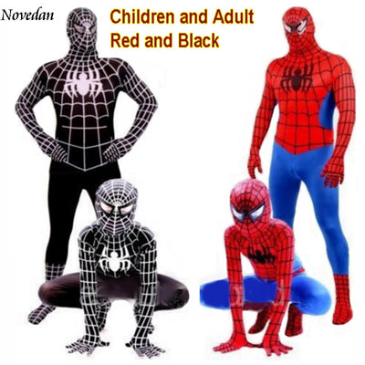 Marvel Spiderman Adult + Kids Cosplay Costumes - Red + Black-And 1 For All  sc 1 st  And1ForAll & Marvel Spiderman Adult + Kids Cosplay Costumes - Red + Black - And 1 ...