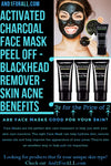 Activated Charcoal Face Mask Peel Off - 3 For The Price Of 2 - Deep Cleansing - Blackhead Remover