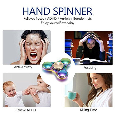 Rainbow Fidget Spinner (Long Spin Time) - Durable EDC | Anxiety/ADHD Autism-Spinning Tops-And 1 For All