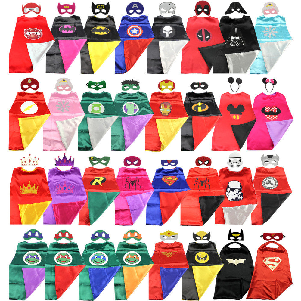Marvel DC Superhero or Princess CAPE & MASK Set Kids Costume-Clothing-And 1 For All