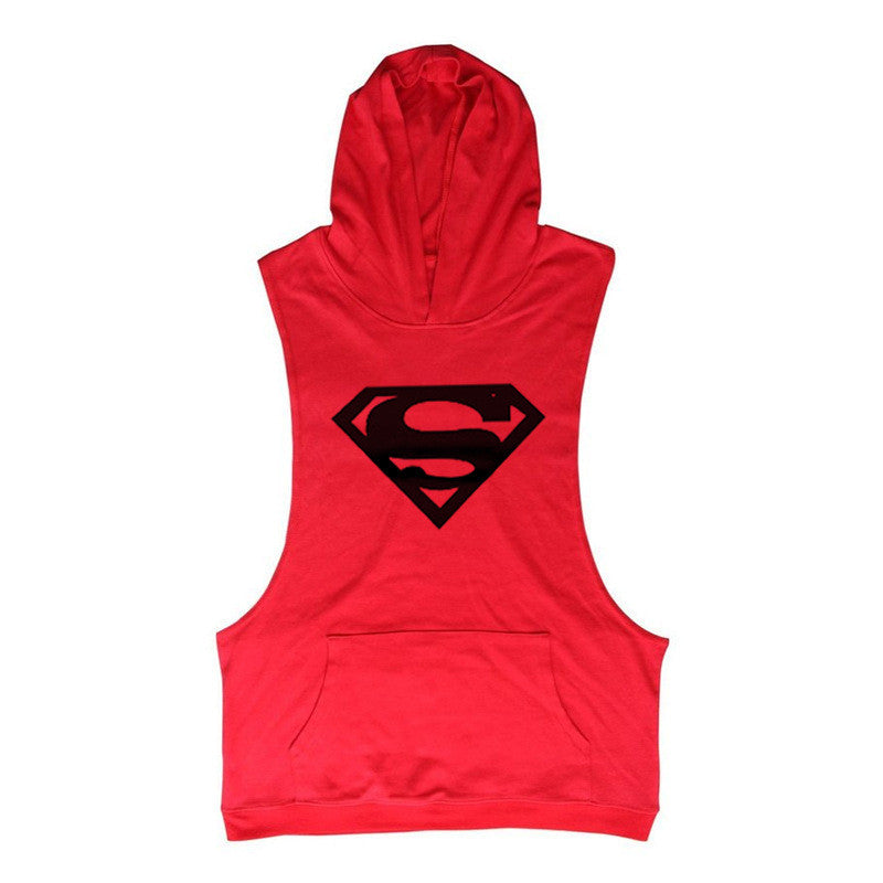 Superman Logo Singlet Hoody Bodybuilding Fitness Tank Top