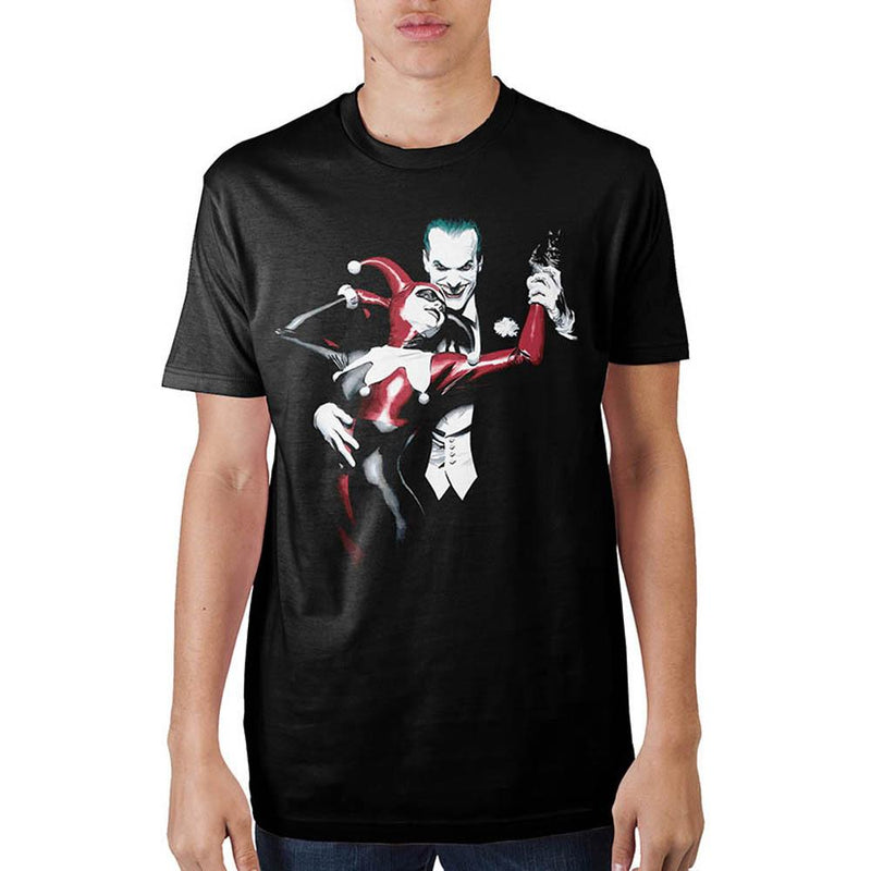 Batman Joker & Harley Mens Blak T-Shirt