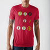 Dco Flash Logos All Over Red S T-Shirt