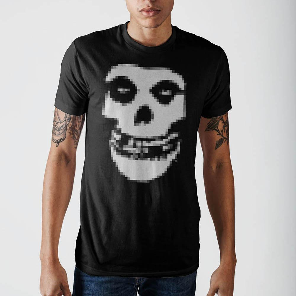 Misfits Mosaic Logo On Black T-Shirt