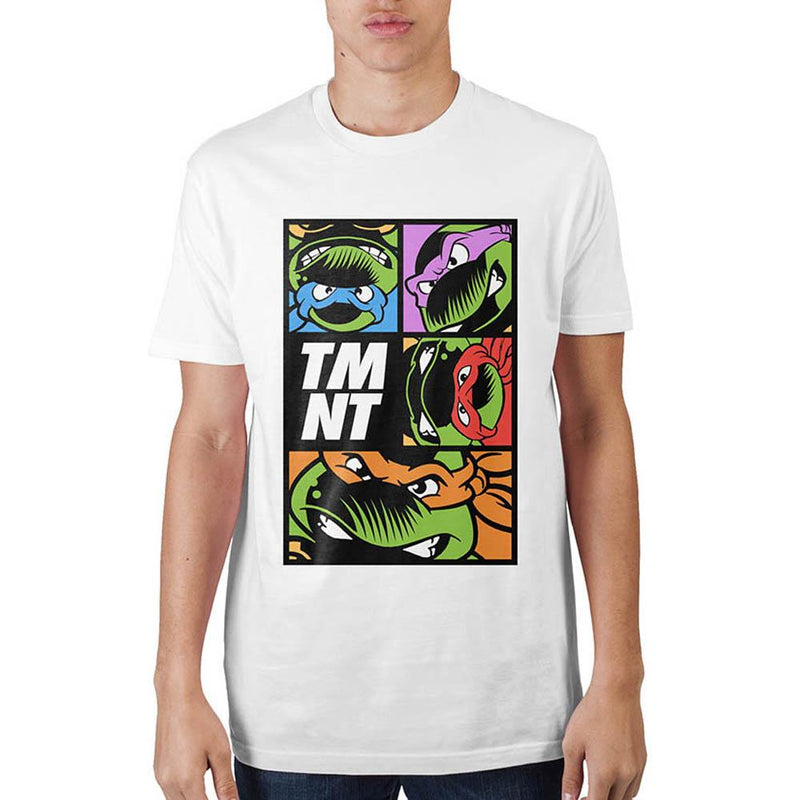 Teenage Mutant Ninja Turtles  Grid Mens White T-Shirt