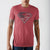 Superman Red Heather Americana Logo T-Shirt