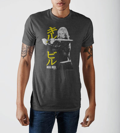 Kill Bill Pose Mens Crew Neck T-Shirt
