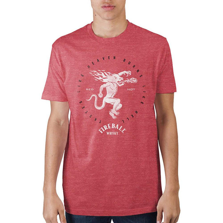 Fireball  Mens On Red Heather T-Shirt
