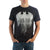 Batman Line Drip Black Mens T-Shirt
