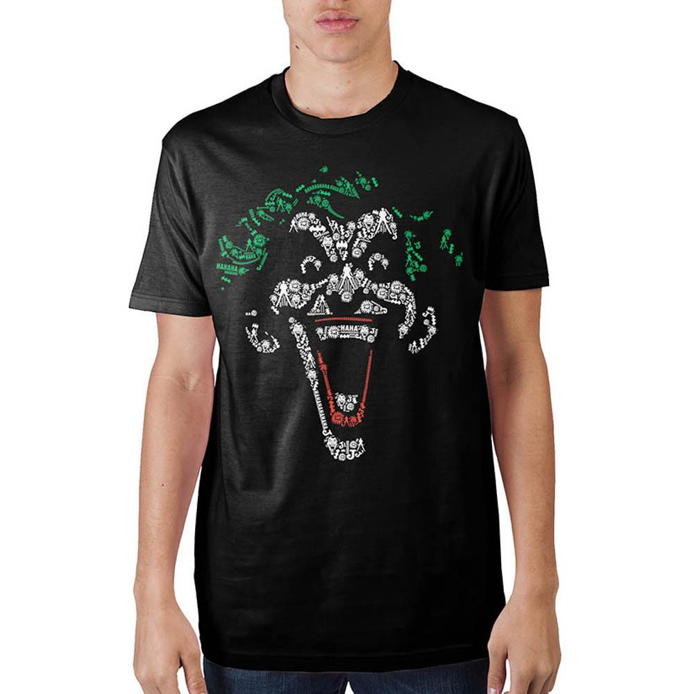 Joker Object Fill Mens Black T-Shirt
