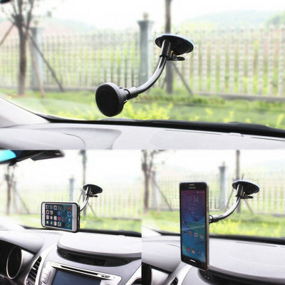 Universal Magnetic Car Mobile Smartphone & GPS Holder | Long Arm Windshield /Air Vent Dock-Mobile Phone Holders & Stands, Accessories-And 1 For All