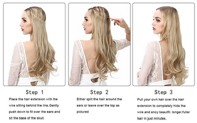 Viral Makeup and Hair Extensions Install Instructions