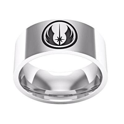 "Jedi Order Symbol Engraved Star Wars ""Tungsten"" Ring ( 75% off ) Was $39.99 - Now Only $9.99"