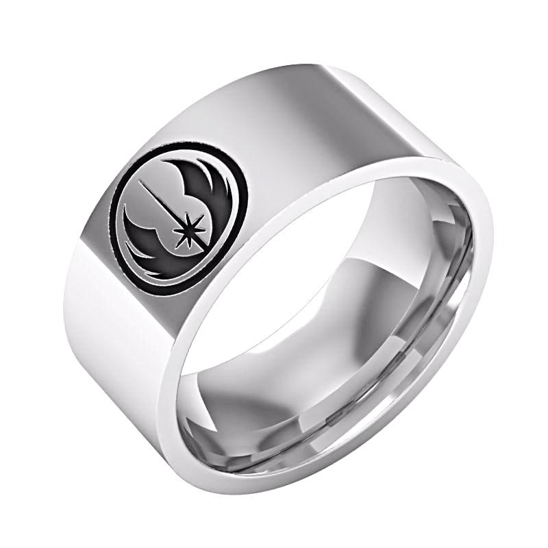 Jedi Order Symbol Engraved Star Wars Tungsten Ring 75 Off And