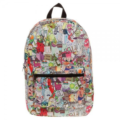 Rick & Morty Subliimated Backpack - Free shipping