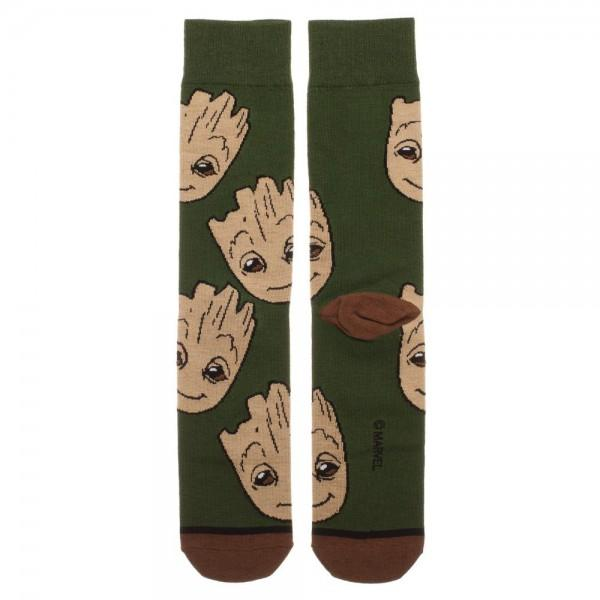 Guardians of the Galaxy Groot Large All Over Print Crew Socks