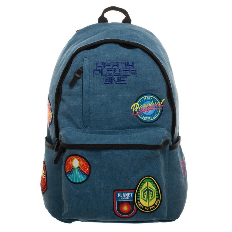 Ready Player One Character Inspired Backpack Knapsack with Gunter Patches, Gamer Life Gifts
