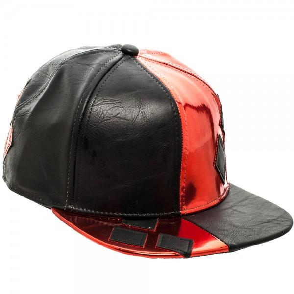 Batman Harley Quinn PU Suit Up Snapback with Applique Diamonds