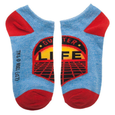 Red 3 Pack Ready Player One Game Patch Socks, Juniors Ankle Sock Set, Gregarious Games, Parzival Gunter Patches