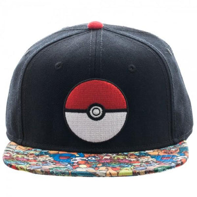 Pokemon Pokeball Sublimated Bill Snapback