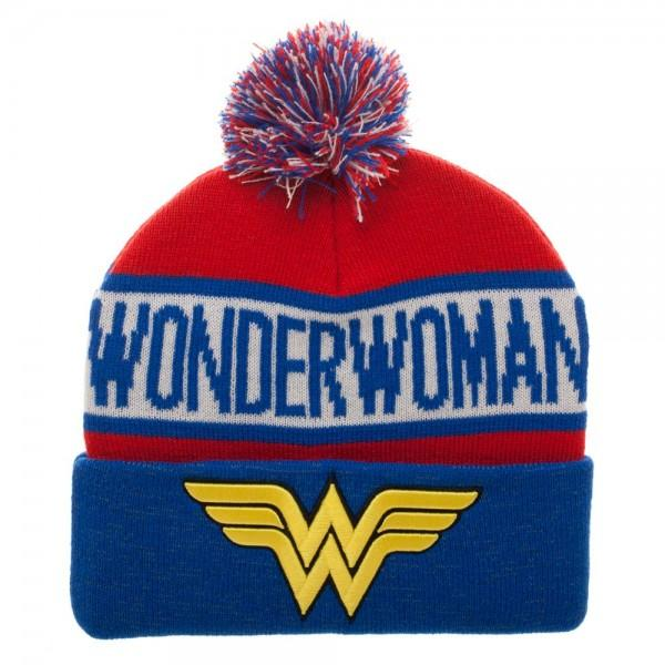 Wonder Woman Reflective Cuff Beanie