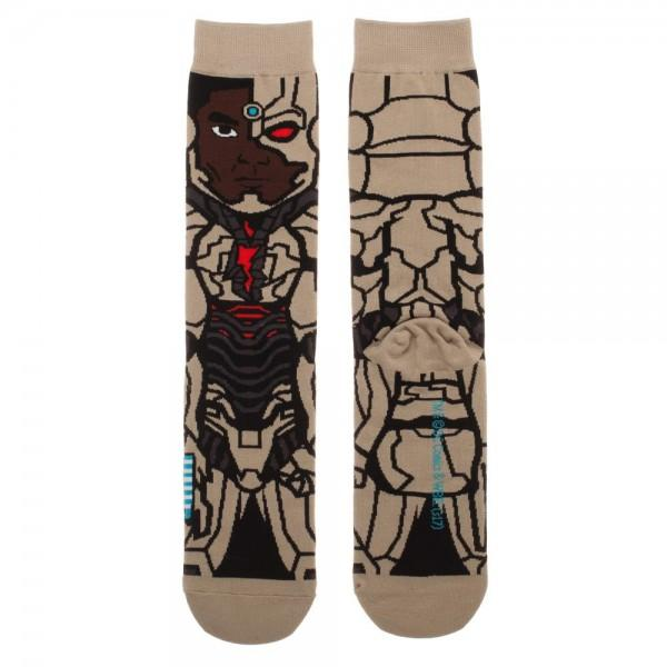Justice League Cyborg 360 Character Crew Sock