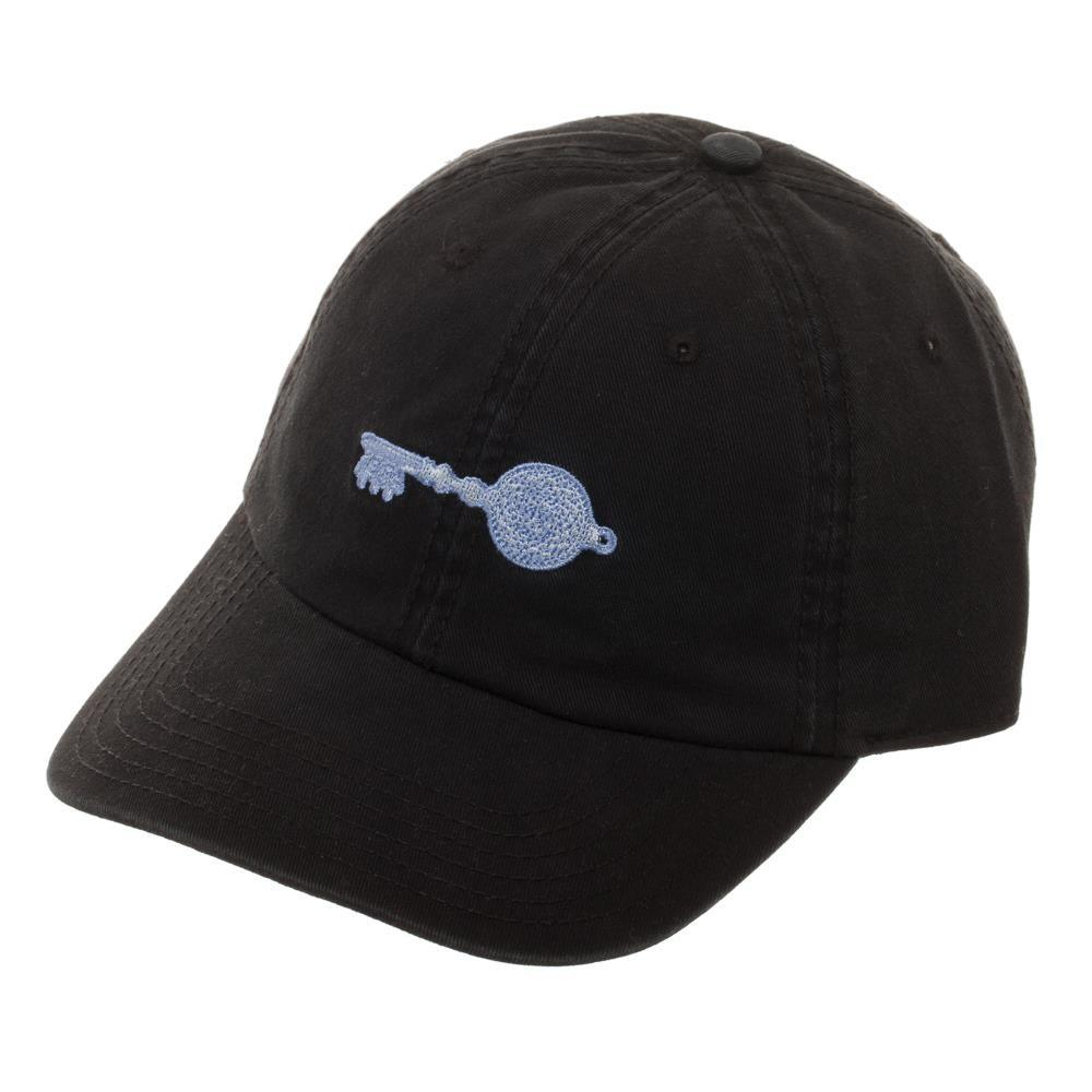 Ready Player One Crystal Key Cotton Embroidered Ballcap, Stylish Black Gamer Dad Hat