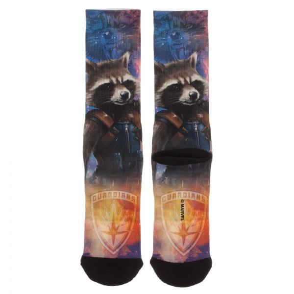 2d3695faef869 Guardians of the Galaxy Rocket Sublimated Crew Socks - And 1 For All